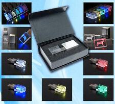 Custom 3D Logo Crystal USB 2.0 Flash Drive Photography Memory Wedding Pendrive