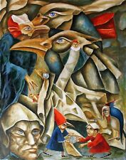 Painting ORIGINAL Oil canvas Modern contemporary  Art surrealism by Pronkin 2020