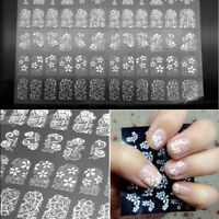 108PCS 3D Flower Nail Art Stickers Decals Tips Stamping DIY Decoration Manicure