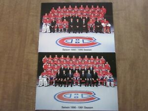 1989-1991 Montreal Canadiens Team Issued Post Card Lot (2)