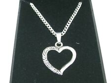 Heart Design Pendant Necklaces + Silver Plated 18inch Chain & gift box