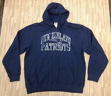 New England Patriots Majestic NFL Football Hoodie Jacket ~ Men's 2XL XXL ~ Blue