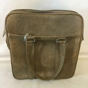 Vintage Samsonite Luggage Tan Carry On Travel Tote Bag Silhouette Fashionaire