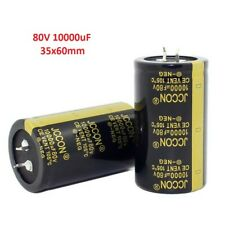 1pcs 80V 10000uF Snap-in Electrolytic Capacitor 105C For Audio Amplifier 35x60mm