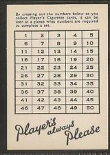 PLAYERS-ADVERTISEMENT CARD (LARGE CARD WANTS LIST) - EXC+++