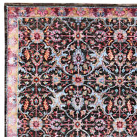 "Pahalgam 5'7"" x 7'10"" Hand Knotted Oriental Persian Silk & Woollen Area Rugs"