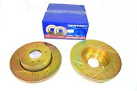 RANGE ROVER P38 PAIR OF FRONT CROSS DRILLED AND GROVED BRAKE DISCS DA4603