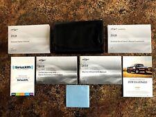 2018 Chevrolet Silverado Owners Manual w/ Navigation & Diesel Manual & Case-#A-B