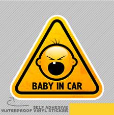 Descremado cara de bebé Baby En Coche Ventana Pegatina Calcomanía Vinilo Coche Furgoneta Bici 2639