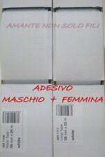 1 metro Velcro strappo ADESIVO da 5 cm COMPLETO Maschio+Femmina colore bianco