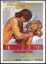 CINEMA-manifesto ALL'OMBRA DEL DELITTO HALLUCINATION cassel, audran, CHABROL