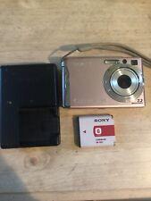 Sony Cyber-shot DSC-W120 7.2MP Digital Camera - Pink