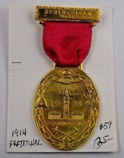 1914 95th Anniversary FLT Odd Fellows Springfield MA Fraternal Pin Medal Ribbon