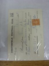 16/08/1948 Chesterfield: Official Club Receipt Received From Bury, Hand Signed B