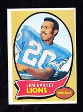 1970 TOPPS #75 LEM BARNEY LIONS ROOKIE HALL OF FAMER