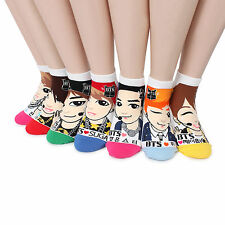 [Free shipping] BTS K-pop Star Fashion Socks (pack of 7pairs) Goods NB17
