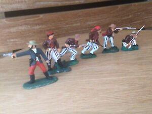 4 American Civil War. Confederate infantrymen, Wheats Tiger Zuoaves Marksmen UK