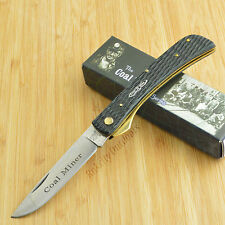 Rough Rider Coal Miner Series Black Jigged Bone Linerlock Work Knife RR760