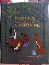 100 Fables de La Fontaine Dessins HENRY MORIN H. Laurens 1932 percaline décorée
