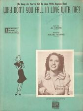 Why Don't You Fall In Love With Me Voice Piano Ukulele Sheet Music Dinah Shore