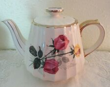 Vintage Sadler Tea Pot Pink Yellow Roses Made in England