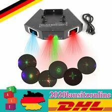 500mW 4 Lens RGB Showlaser Tunnel Wellen DJ Disco Lasereffekt DMX Stage Effekte