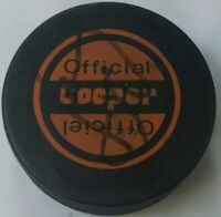 COOPER LIGHT SIG! UNKNOWN AUTO! VINTAGE OFFICIAL  CZECHOSLOVAKIA HOCKEY PUCK