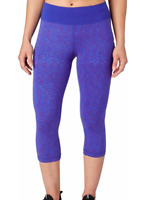 Reebok Women's Fitness Essentials Tight Fit Printed Capris
