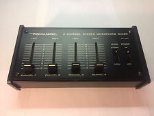 Vintage Realistic 4-Channel Stereo Microphone Mixer