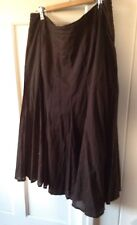 Target size 14 Chocolate Brown Cotton Lined Flared Skirt.