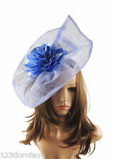 Dusky Blue Fascinator Hat For Weddings/Ascot/Proms With Headband M14
