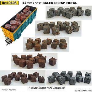 12mm Loose, Crushed Baled Scrap for HO / OO POA, OCA, Gondola Loads, Scrapyards