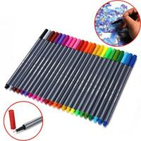 Fineliner Pens 24 Colors 0.4mm Fineliners Set Painting Drawing Art Markers Pen