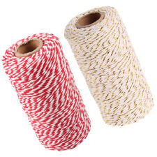 Roll of 2pcs Cotton Twine String Rope Cord for DIY Crafts Accessories