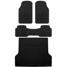 CarXS Proliners Custom Rubber Floor Mats Black-4pc Heavy Duty Diamond Grid