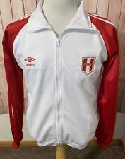 Umbro Peru Long Sleeve Track Full Zip Jacket Size Medium Red White