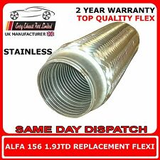Alfa Romeo 156 1.9JTD 2003-2005 Replacement Exhaust Flex Flexi For Front Pipe