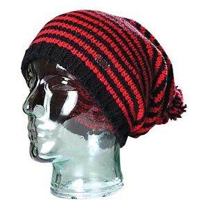 686 Benton Black & Red Women's Beanie One Size Fits All NEW !!