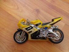 1/18 HOT WHEELS 10CM YELLOW MOTO GP PLASTIC/DIECAST MOTORBIKE MOTORCYCLE BIKE