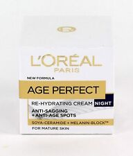 L'Oreal Paris Age Perfect Re-Hydrating Cream NIGHT - For Mature Skin - 50ml