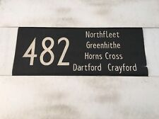 "London Bus Blind J 1975 33""- 482 Northfleet Greenhithe Dartford Crayford"