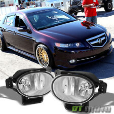 2007-2008 Acura TL Bumper Fog Lights Driving Lamps+Bulbs Aftermarket Left+Right