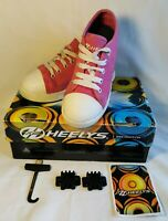 Genuine HEELYS X2 Girl's Canvas Roller / Skate Shoes / Trainers UK 13 PINK