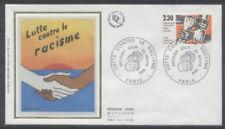FRANCE FDC - 2204 1 LUTTE CONTRE LE RACISME - 20 Mars 1982 - LUXE sur soie