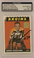 1965 1966 OPC Gerry Cheevers AUTO PSA DNA *2001 REPRINT* RC ROOKIE AUTOGRAPH