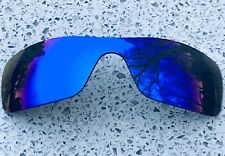 Polarized ice blue mirrored Replacement Oakley Batwolf Lens & Carry Pochette