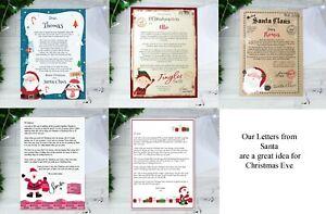 Personalised Christmas Letter Choose Design