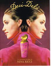 """PUBLICITE ADVERTISING 104 1995  NINA RICCI  parfum femme """" DECI-DELA"""""""