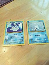 L👀K  Pokemon Dewgong 25/102 1st Edition Base Set 1999 & Seel 41/102