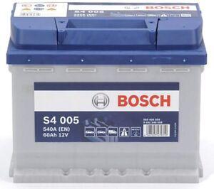 BATERIA BOSCH S4 005 60AH / 540A, 12V, BORNE + DERECHA,242X175X190,24 HORAS